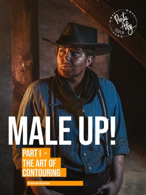 "The cover of our Cosplay Tutorial Make-up eBook ""MALE UP! Vol. 1 - The Art of Contouring"""